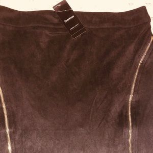 NWT Bebe black suede mini skirt